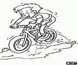 Coloring Mountain Pages Bike Extreme Sports Adventure Descent Cycling sketch template