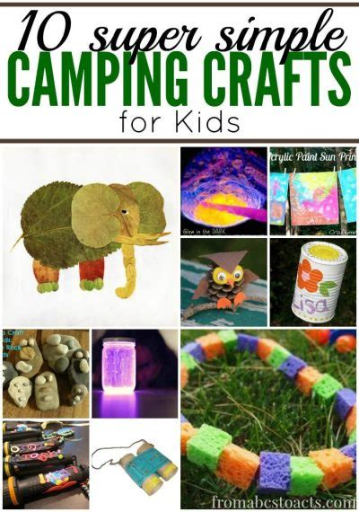 super simple camping crafts  kids  abcs  acts