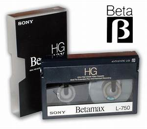 Sony Betamax video cassette tape and logo | SimplyDV ...