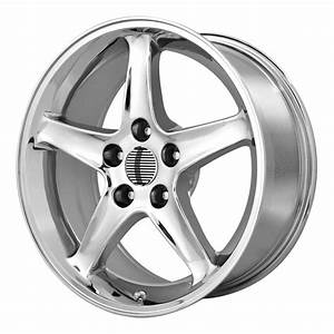 Ford Mustang Cobra R (5-Lug) Style Wheel 17x9 +24 Chrome 5x114.3 5x4.5 (QTY 2) | eBay