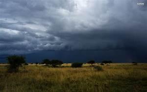 Dark Storm Clouds Trees Field wallpapers | Dark Storm ...