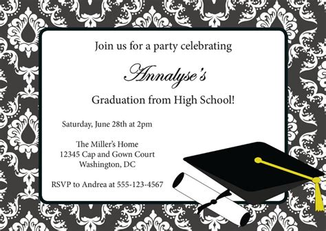 free graduation announcements templates 40 free graduation invitation templates template lab