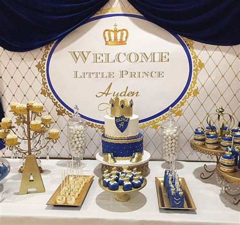 baby shower prince theme royal blue gold white prince themed printable by