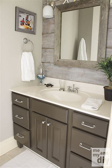 Color For Bathroom Cabinets by Gray Painted Cabinets Benjamin Thunder Gray