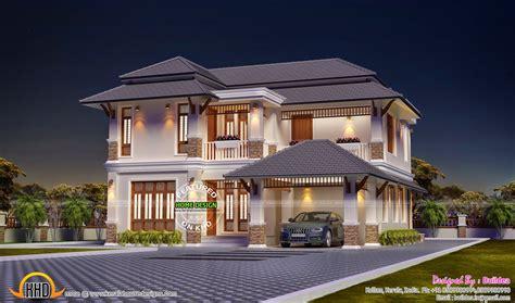bedroom modern villa night view kerala home design floor plans