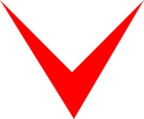 Illustration Of A Red Down Arrow
