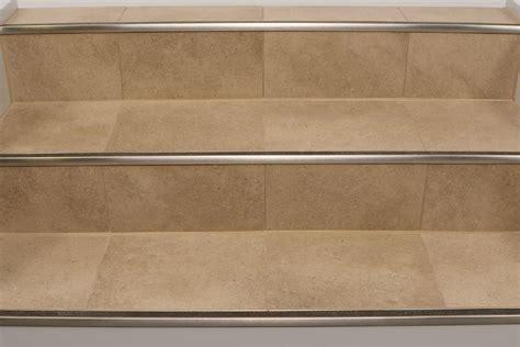 wood ceramic tile floor schluter trep g gk slip resistant treads for stairs