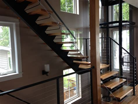 Stairs : Metal Floating Stairs & Straight Stair Photo Gallery