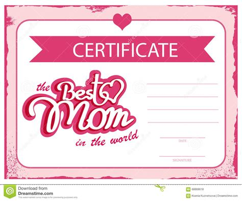 mothers day gift certificate clipart card png
