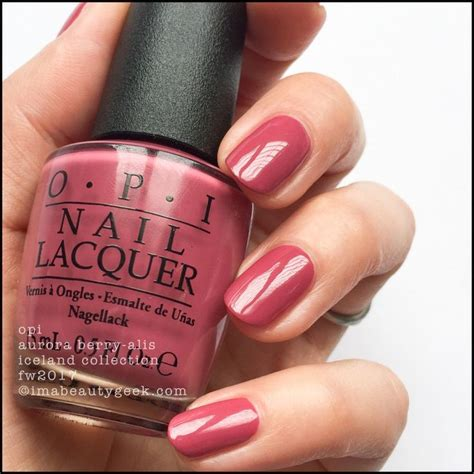 opi colors opi iceland collection swatches review fw 2017 nail