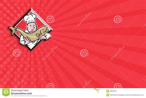 Chef Cook Handling Salmon Trout Fish Cartoon Stock Image Avery Business Card Paper Staples Art Deco Template For Mac App Design Ai Vector Discover Apply Artist Cdr