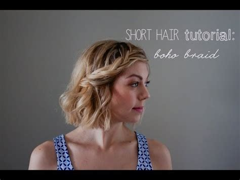 short hair tutorial: boho braids   YouTube