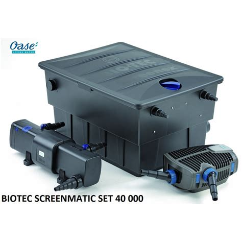 biotec screenmatic set 40000 filtre pour bassin de jardin oase
