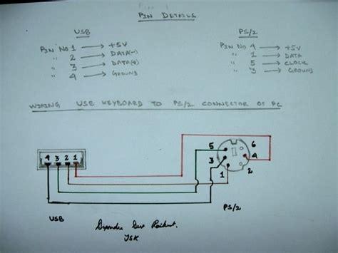 ps2 keyboard to usb wiring diagram ps2 keyboard to usb wiring diagram wiring diagram and schematic diagram