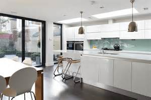 kitchen islands and bars modern extension to an edwardian home self build co uk