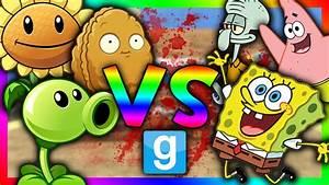 PLANTS VS SPONGEBOB!!! | Gmod Sandbox (Spongebob Mod ...  Spongebob