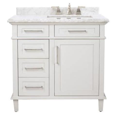 Country Bathroom Vanities Home Depot by Home Decorators Collection Sonoma 36 In Vanity In White