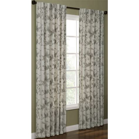 allen roth curtains shop allen roth elmbridge 95 in polyester back tab light