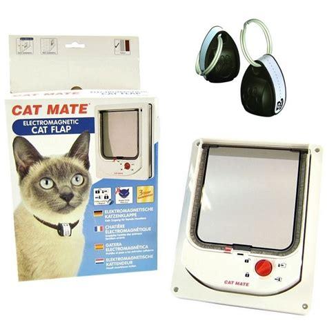 cat mate katzenklappe elektromagnetische katzenklappe mit magnethalsband cat mate 254 cat mate g 252 nstig bestellen
