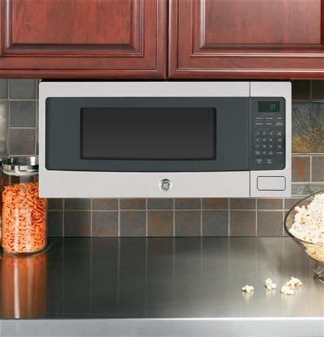 ge profile space saver cabinet depth microwave  optional  cabinet hanging kit  cu