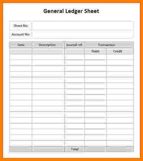 general ledger printable ledger review