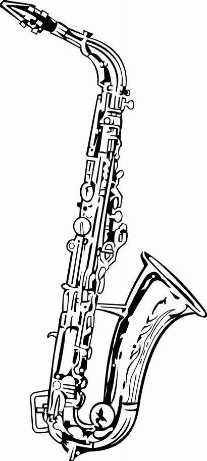 Saxophone Clip Clipart Alto Illustration Background Clarinet