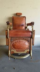 Vintage Koken Barber Chair With All Hardware
