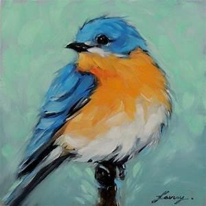 Peindre Au Pastel : merle bleu 5 x 5 pouces original peinture l 39 huile par laveryart pastels l 39 huile en 2019 ~ Melissatoandfro.com Idées de Décoration