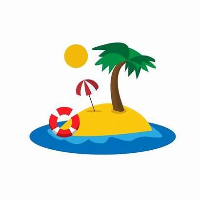Beach Tropical Clipart Clip Islands Transparent Resort