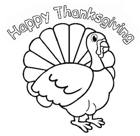 thanksgiving turkey coloring pages getcoloringpagescom