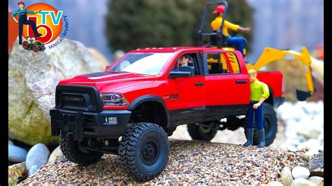 bruder truck ram  cars rc adventures youtube
