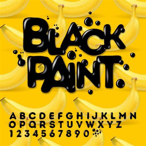 paint font design images vector font