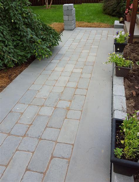 tumbled bluestone walkway