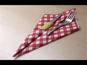 Porte Serviette En Papier : faire un porte couverts pliage avec serviette en papier youtube ~ Teatrodelosmanantiales.com Idées de Décoration