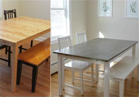 Ikea Möbel Streichen by Holz Esstisch Aufpeppen Tischplatte In Betonoptik