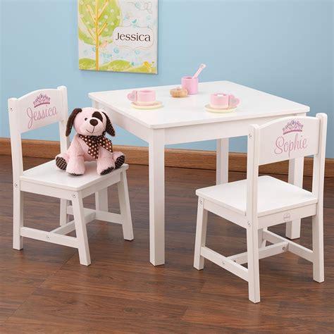 Table Et Chaises Enfant En Bois (blanc