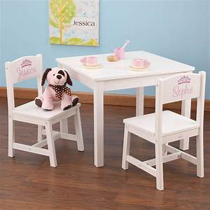 Table Enfant Avec Chaise : table et chaises enfant en bois blanc ~ Teatrodelosmanantiales.com Idées de Décoration