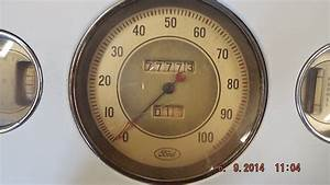 1936 Ford  Closed Car Dash With Gauges   200  Sold