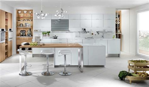 cuisine et blanc photos cuisine blanc laqué et bois galerie et cuisine blanc laque