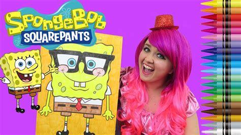 coloring spongebob squarepants giant coloring book page