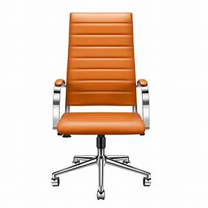 Luxmod, High, Back, Office, Chair, With, Armrest, Orange, Adjustable, Swivel, Chair, In, Durable, Vegan
