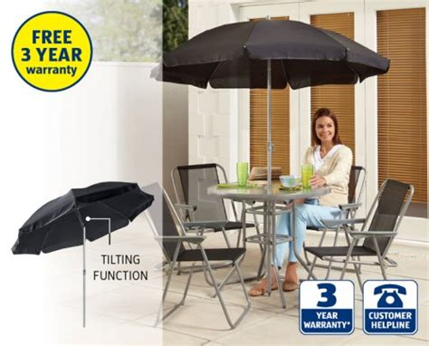 6 piece patio furniture set 163 49 99 aldi from 1st may
