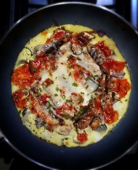 pizza style open faced sardine omelet casa veneracion