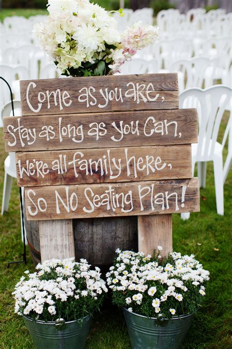 Rustic Wedding Ceremony Sign Photo By Anne Nunn Via