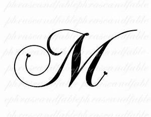Letter M Hearts 283 Digital Download Alphabet Initial Name ...