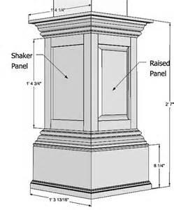 Square Wood Columns Interior