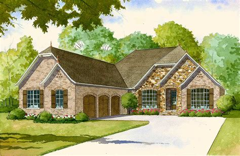 French Country House Plan   Kitchens Mk