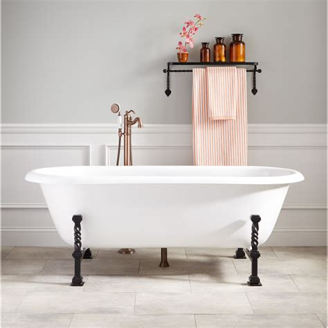 ralston cast iron double ended tub gothic feet