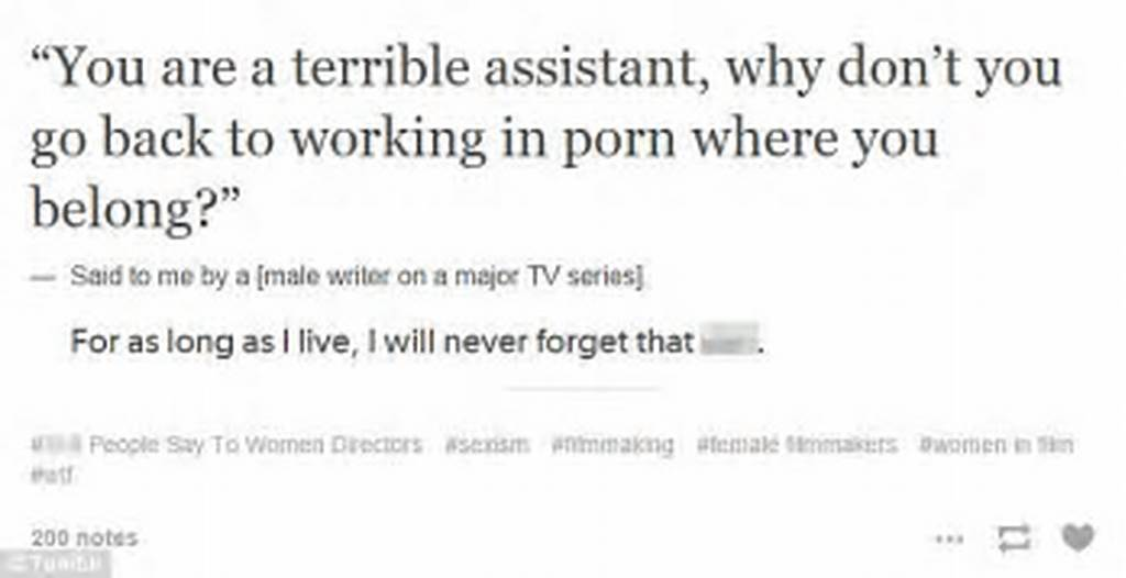 #Tumblr #Blog #Sh** #People #Say #To #Women #Directors #Reveals