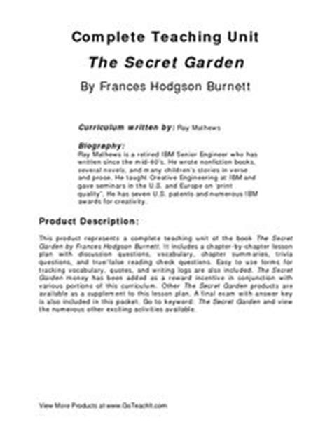 the secret garden unit on key crafts the